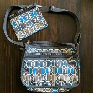 Lesportsac crossbody & pouch